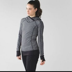 Lululemon Think Fast Hoodie  Tonka Stripe Heathere